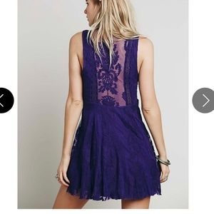 Free People Reign Over Me Lace Dress Sz 6